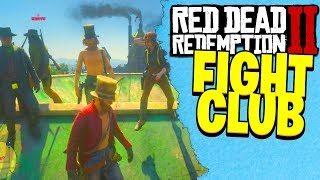 RED DEAD REDEMPTION 2 ONLINE FIGHT CLUB | RDR2 Crazy Knife Fight Lobby!