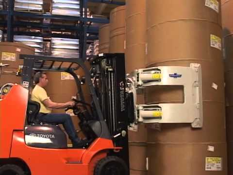 Cascade Paper Roll Clamps Lift Truck Roll Handling Youtube