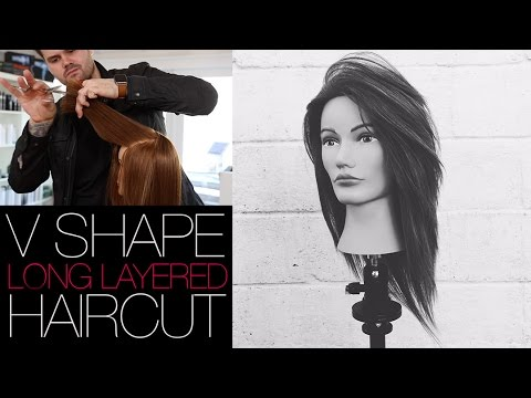 V-SHAPED HAIRCUT - How To Cut A Long Layered V SHAPE Haircut   MATT BECK VLOG #22