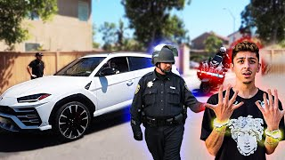 FaZe Rug pulled over by a cop!! **On Camera**