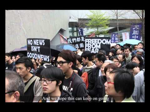 Thousands March Protect Press Freedom in Hong Kong