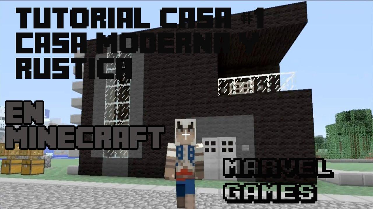 Tutorial casa moderna y rustica minecraft xbox 360 youtube for Casa moderna xbox 360 minecraft