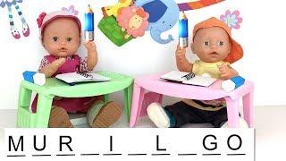 Aprende palabras con muñecas en el reto de Nenuco Lola vs Baby born. Videos para niños