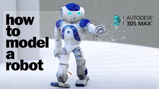 Speed Modelling 3DMax - Nao Robot Biped Rigged