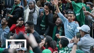 World Cup: Saudi Arabia fans arrive in Moscow