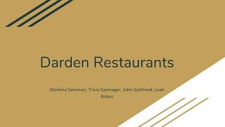 Darden Restaurants Intro 2007