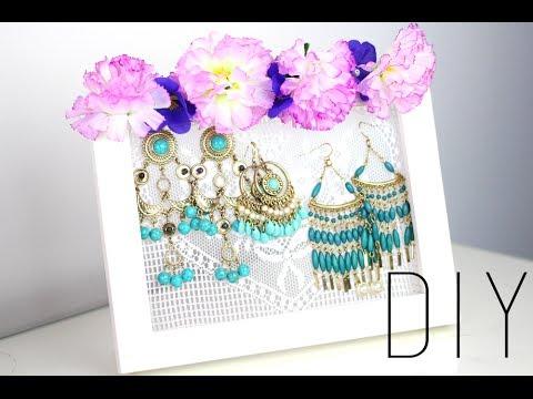 Tutoriel diy presentoir a boucles d 39 oreilles rangement bijoux ear - Rangement bijoux diy ...