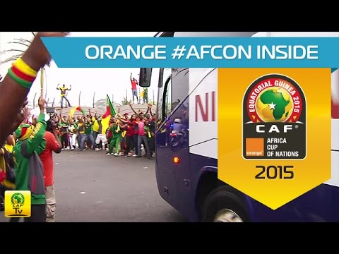 Arrival of Cameroon in Malabo - Orange Africa Cup of Nations, EQUATORIAL GUINEA 2015