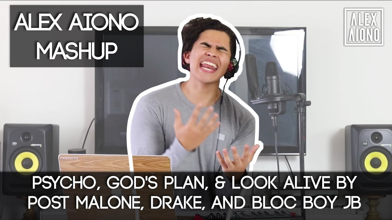 Psycho, God's Plan, & Look Alive by Post Malone, Drake, and Bloc Boy JB | Alex Aiono Mashup