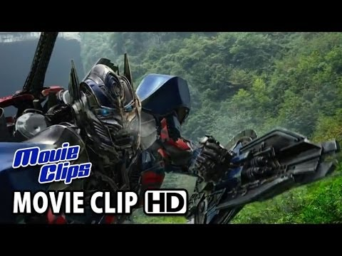 Transformers: Age of Extinction Trailer CLIP - Optimus Prime Fights Dinobot (2014) HD