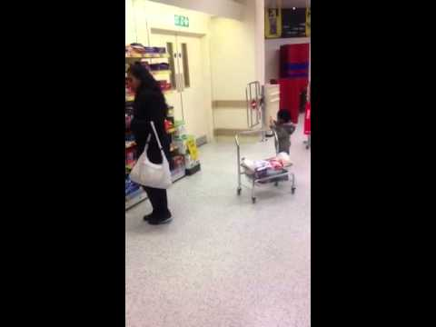 Mom And Son Shopping video