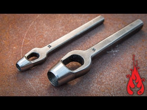 Blacksmithing - Making a hollow hole punch