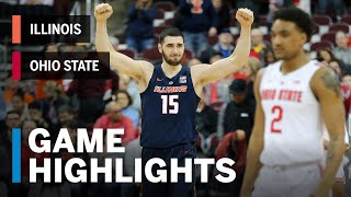 Highlights: Illinois at Ohio State | Big Ten Basketball