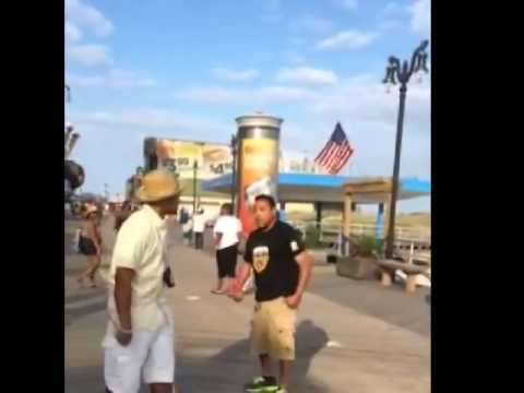 Aggressive Bully  Knocked out with One Punch by Street Vendor