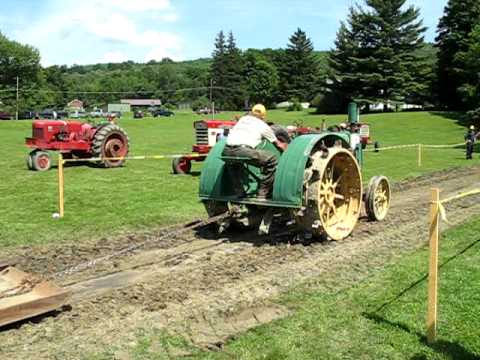 Old John Deere tractor at tractor pull. Pownal Valley Fair, Pownal Vermont 2009