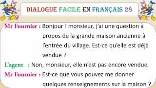 Dialogue facile en français 28