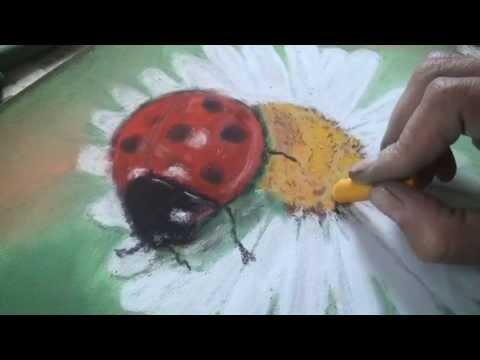 1 урок. Рисуем ромашку...пастель