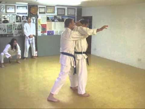Tom Hill's Karate Dojo; Goju Kata Bunkai; Kururunfa; Self Defense Ideas video