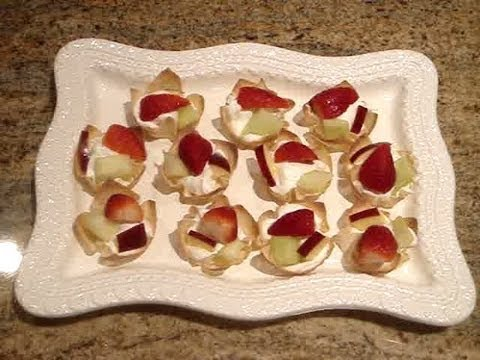 Easy Wonton Fruit Cup Recipe