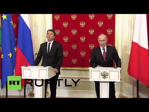 Russia: 'Russia and Italy trade relations strong, despite sanctions' - Putin