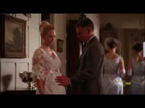 Mad Men January Jones Pregnant belly scenes