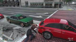 Playing Grand Theft Auto V with josh and isaiah and me