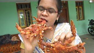 SEA CRAB Fry Cooking in My Village   Yummy Taste Fry   VILLAGE FOOD