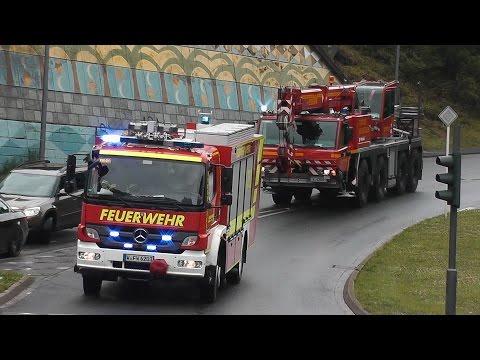 [RÜSTZUG] Rüstwagen (RW) + Feuerwehrkran (FwK 40) BF Wuppertal FW 1 (HD)