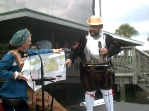 Cape Canaveral 50th Anniversary - Re-enactment of Alvaro Mexia