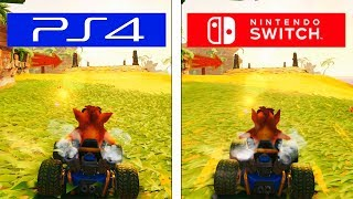 Crash Team Racing Nitro Fueled | Switch VS PS4 | Graphics & FPS Comparison