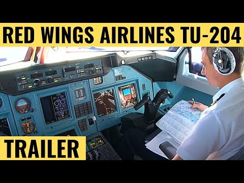 Red Wings Airlines TU-204 - Cockpit Video - Flightdeck Action - Flights In The Cockpit