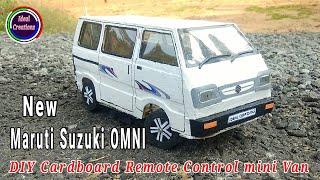 How to make a car | Maruti Suzuki Omni | DIY Cardboard RC mini Van | Home Made RC electric Car.