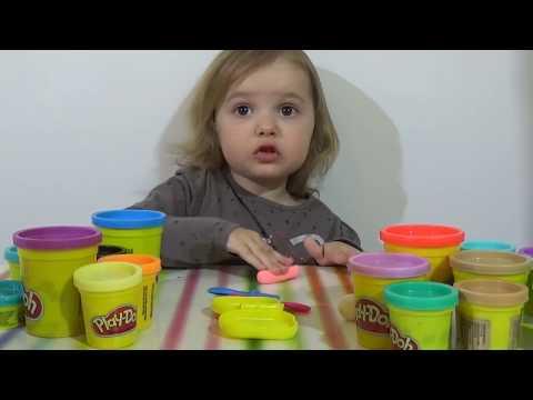 Мороженное на палочке из пластилина лепим Play-Doh ice cream on a stick.