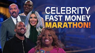 WOW! Celebrity Family Feud Season 4 FAST MONEY MARATHON! | Celebrity Family Feud