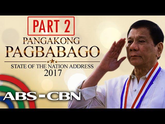 President Duterte's 2nd SONA (Part 2)
