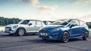 Ford Fiesta ST vs Mini Cooper S   Drag Races   Top Gear