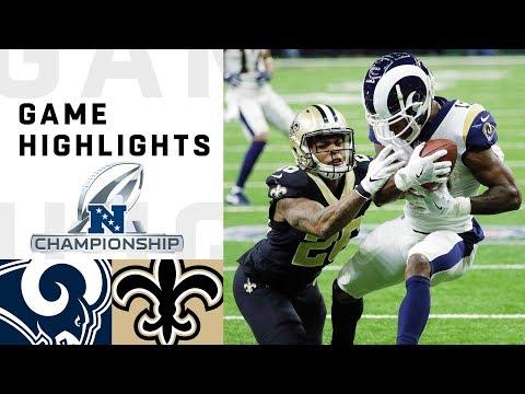 Rams vs Saints NFC Championship Highlights  NFL 2018 Playoffs