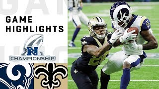 Rams vs Saints NFC Championship Highlights | NFL 2018 Playoffs