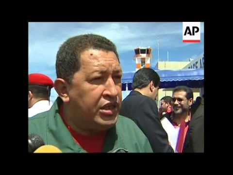 WRAP Venezuelan President gives news conference ADDS at site of future oil refinery