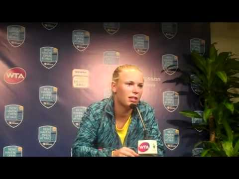 New Haven 2011 Caroline Wozniacki press conference