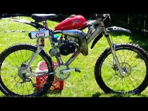 Fast GT LST Motorized Bicycle with KTM 50 Water Cooled engine.Shift kit.