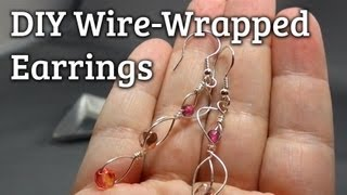 How to Make Wire-Wrapped Dangle Earrings in 8 Minutes or Less!