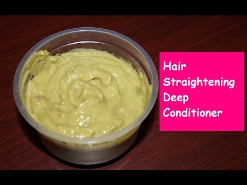 Get Straight Hair Naturally in 15 Minutes ( DIY Hair Straightening Conditioner)    Sneha S