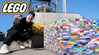 Can 10,000 Legos Stop A Steam Roller??