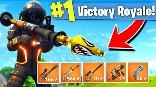 *NEW* LEGENDARY WEAPONS ONLY GAMEMODE (Solid Gold) Fortnite Battle Royale