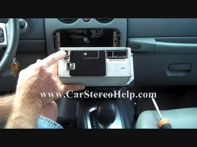 Jeep Liberty 2002-2007 Car Stereo Removal - YouTube