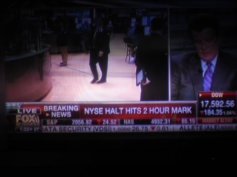 New York Stock Exchange, Stock Market Has STOPPED Trading July, 8, 2015