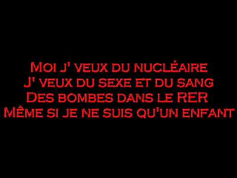 Saez - Jveux Du Nuclaire