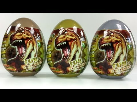 3 Dinosaur Collection Surprise Eggs Unboxing
