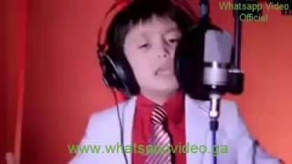 a chinese kid singing an arabic song